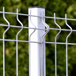Zinc coated fence post