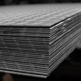 Aluminium sheet with diamond pattern