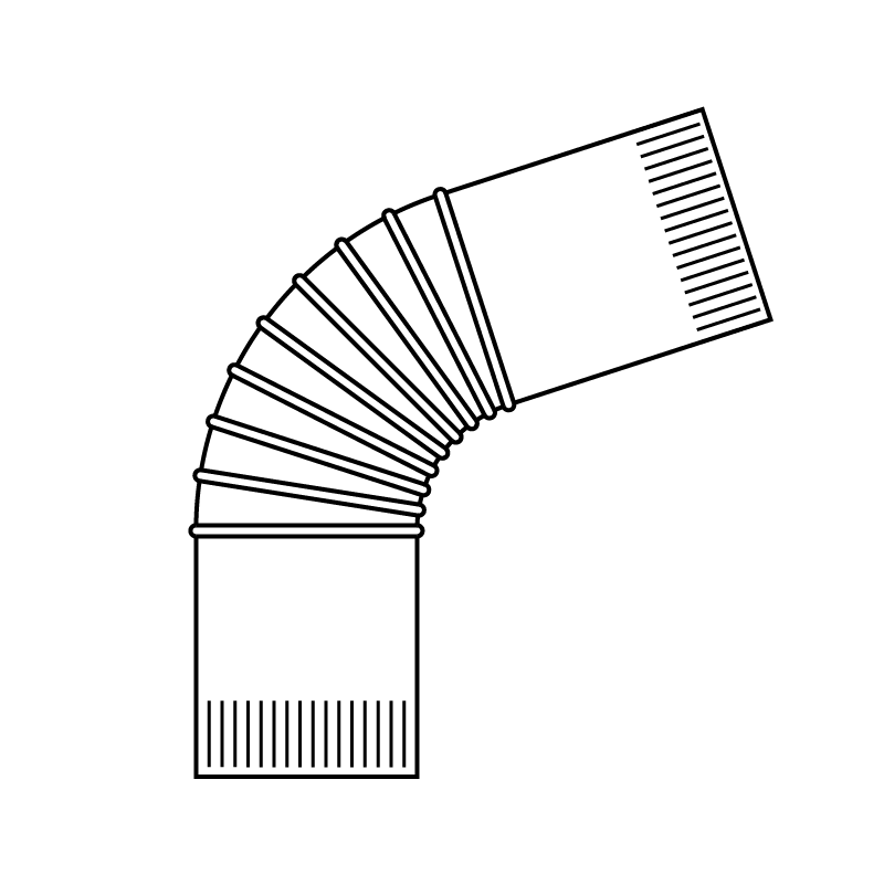 Corrugated elbow
